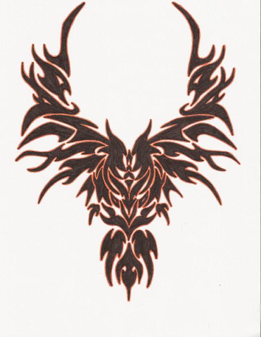 bird tattoo design on back. Black Bedroom Furniture Sets. Home Design Ideas