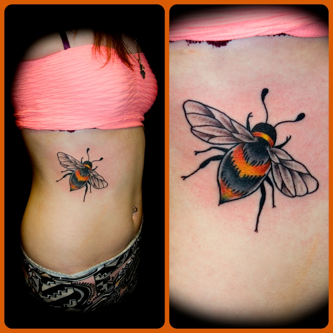 Bee Tattoo Images & Designs