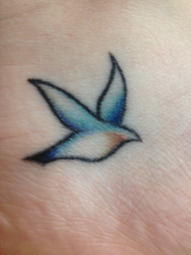 Blue birds tattoo - photo#12