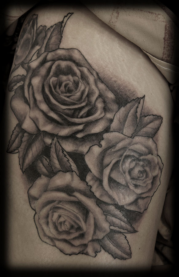 Black and white tattoo images designs for White rose tattoo