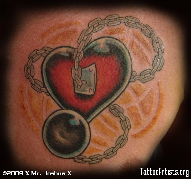 Ball and chain tattoo chain tattoo images amp designs