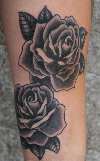 Half sleeve rose flowers black and white tattoo black rose flowers and black and white tattoo mightylinksfo
