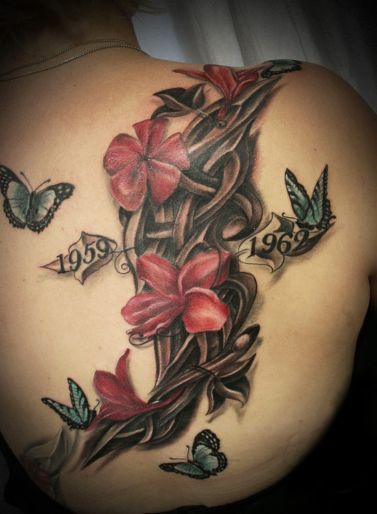 Buddhist tattoo images designs for Lotus flower and butterfly tattoo designs