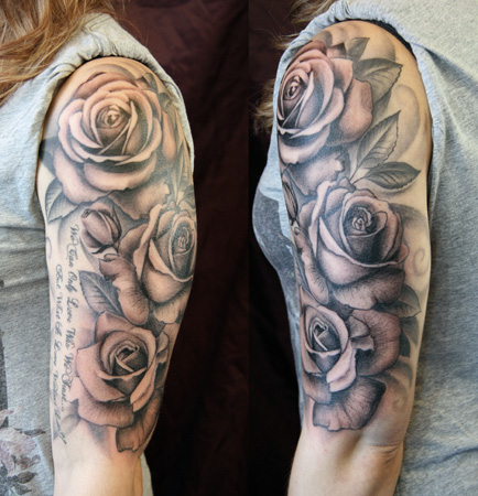 Black and white tattoo images designs for Black and gray rose tattoos