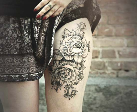 Black And White Flower Tattoos On Wrist: Black And White Tattoo Images & Designs