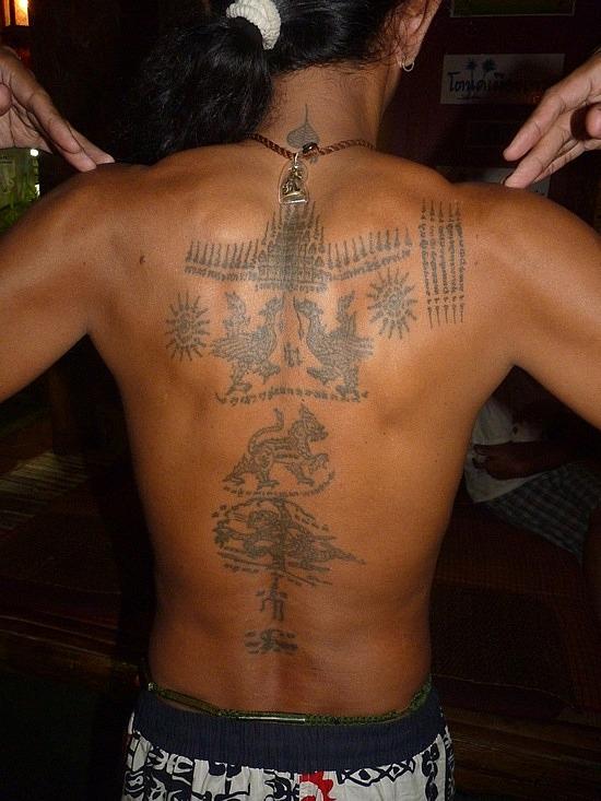 Man Full Body Buddhist Tattoo