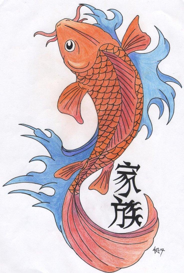 Carp fish tattoo images designs for Koi fish design
