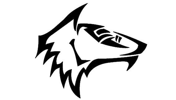 82640ca74 Amazing Black Tribal Climbing wolf Coyote Tattoo Design