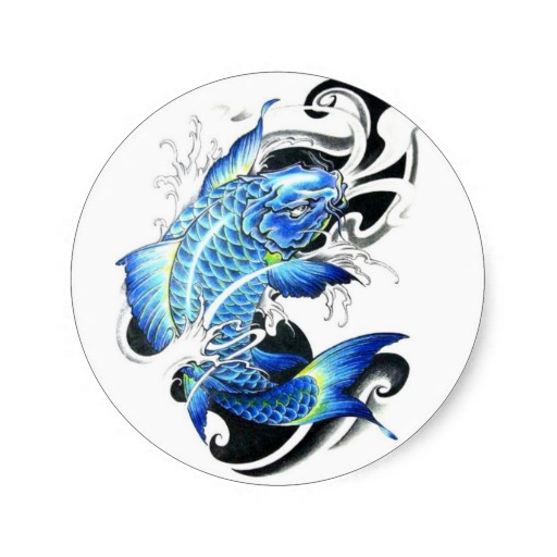 Carp fish tattoo images designs for Blue koi fish meaning