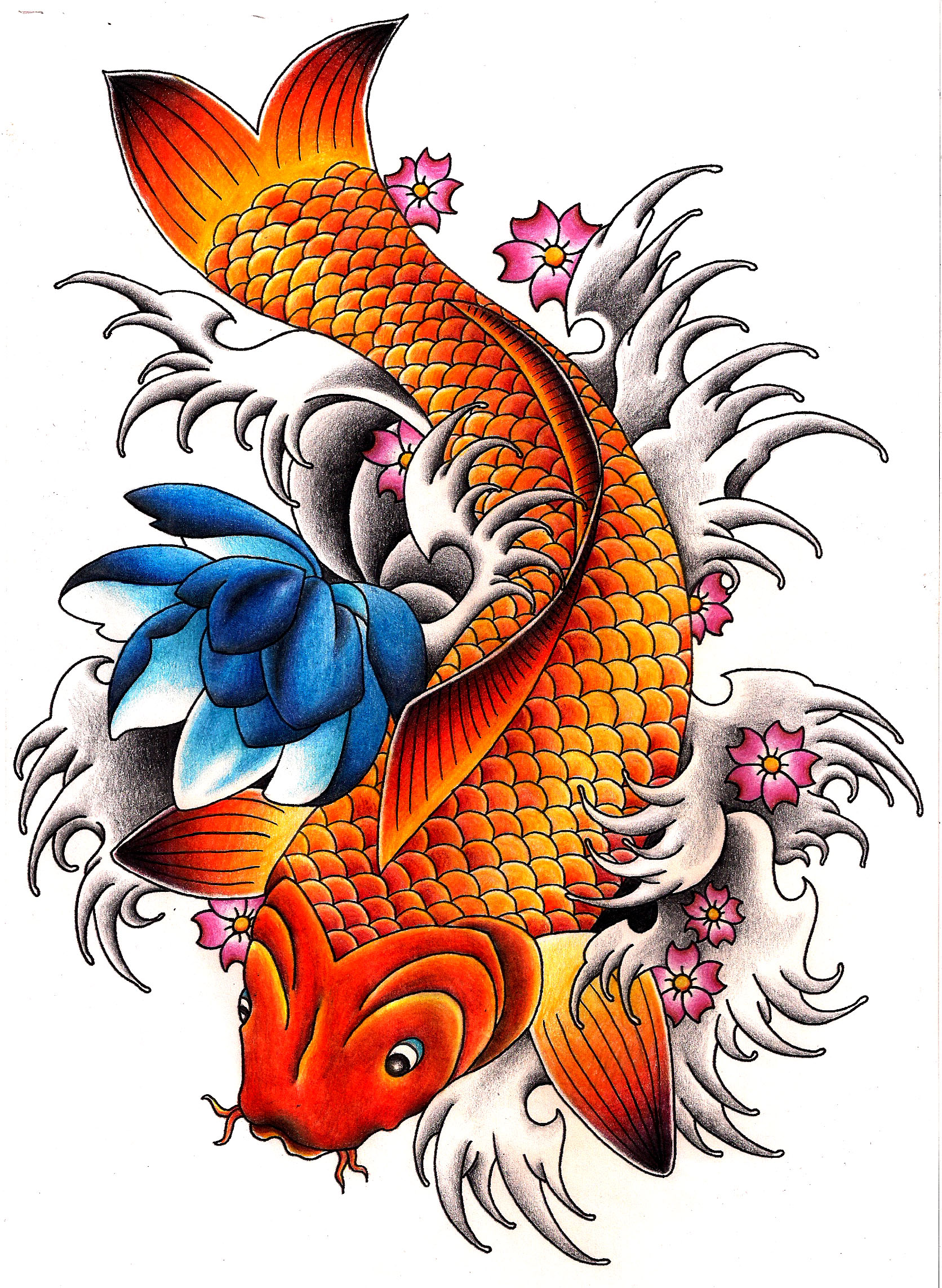 Carp Fish Tattoo Images & Designs