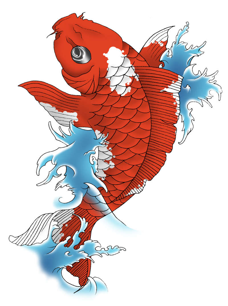Carp fish tattoo images designs for What does a koi fish represent