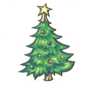 Christmas Tree Tattoo Ideas.Christmas Tree Tattoo Design