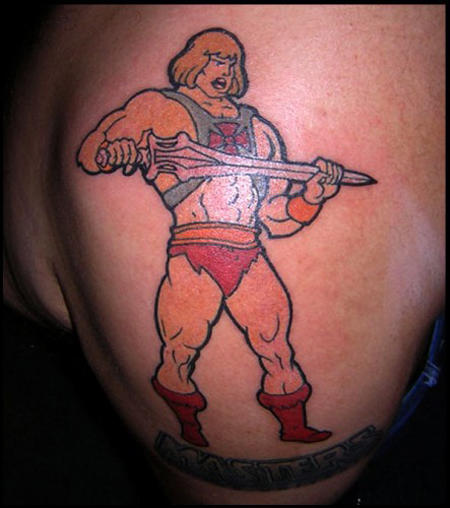 Street Fighter Cartoon Tattoo