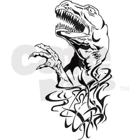 Black Ink Dinosaur Tattoos On Wrists