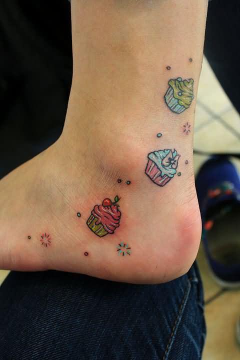 Cupcakes Tattoo Images & Designs