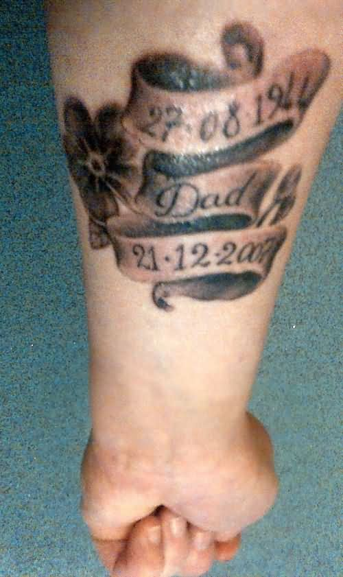Beautiful left forearm memorial dad tattoo for Memorial tattoo for dad