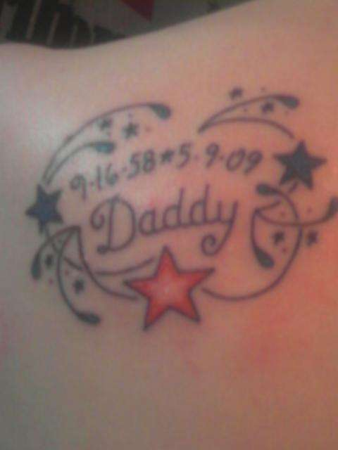 Dad tattoo images designs for Memorial tattoo for dad