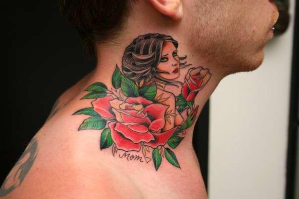 6e17f35f6 Side Neck Mom Tattoo