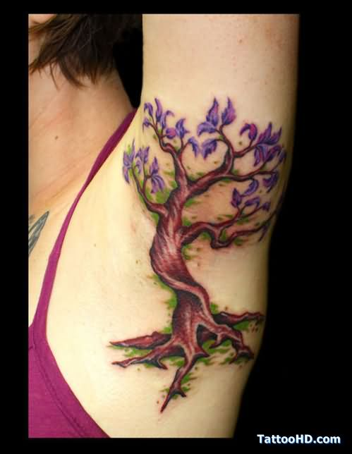 acacia tree tattoo on armpit rh tattoostime com acacia tree silhouette tattoo Tree Tattoo Drawings