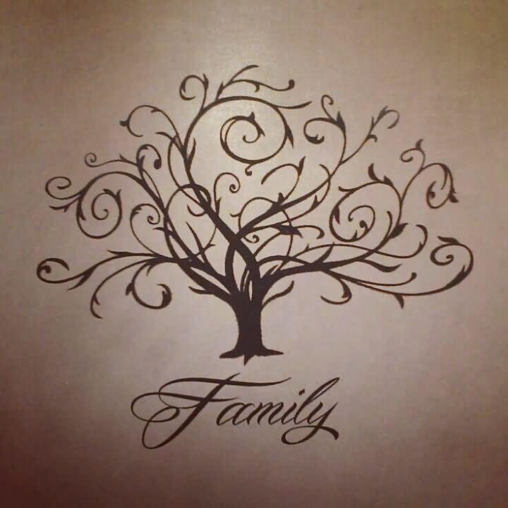 Family Tree Symbol Tattoo Attractive Family Tree Tattoo
