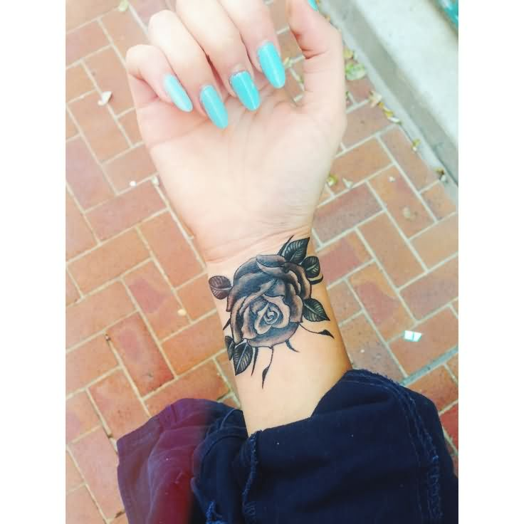 Black Flower Tattoos Wrist: Wrist Tattoo Images & Designs