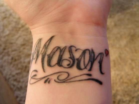 mason wrist tattoo. Black Bedroom Furniture Sets. Home Design Ideas