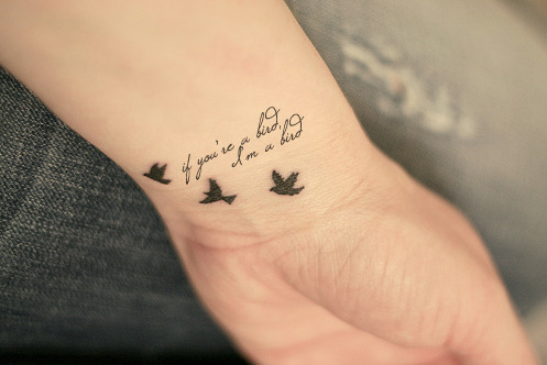 Wrist tattoo images designs for Tiny bird tattoo