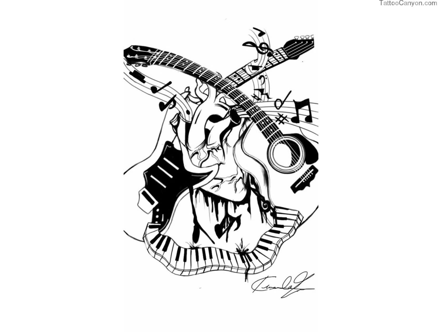 Music tattoo designs tattoo ideas pictures tattoo ideas pictures - Music Tattoo Images Designs Music Tattoos