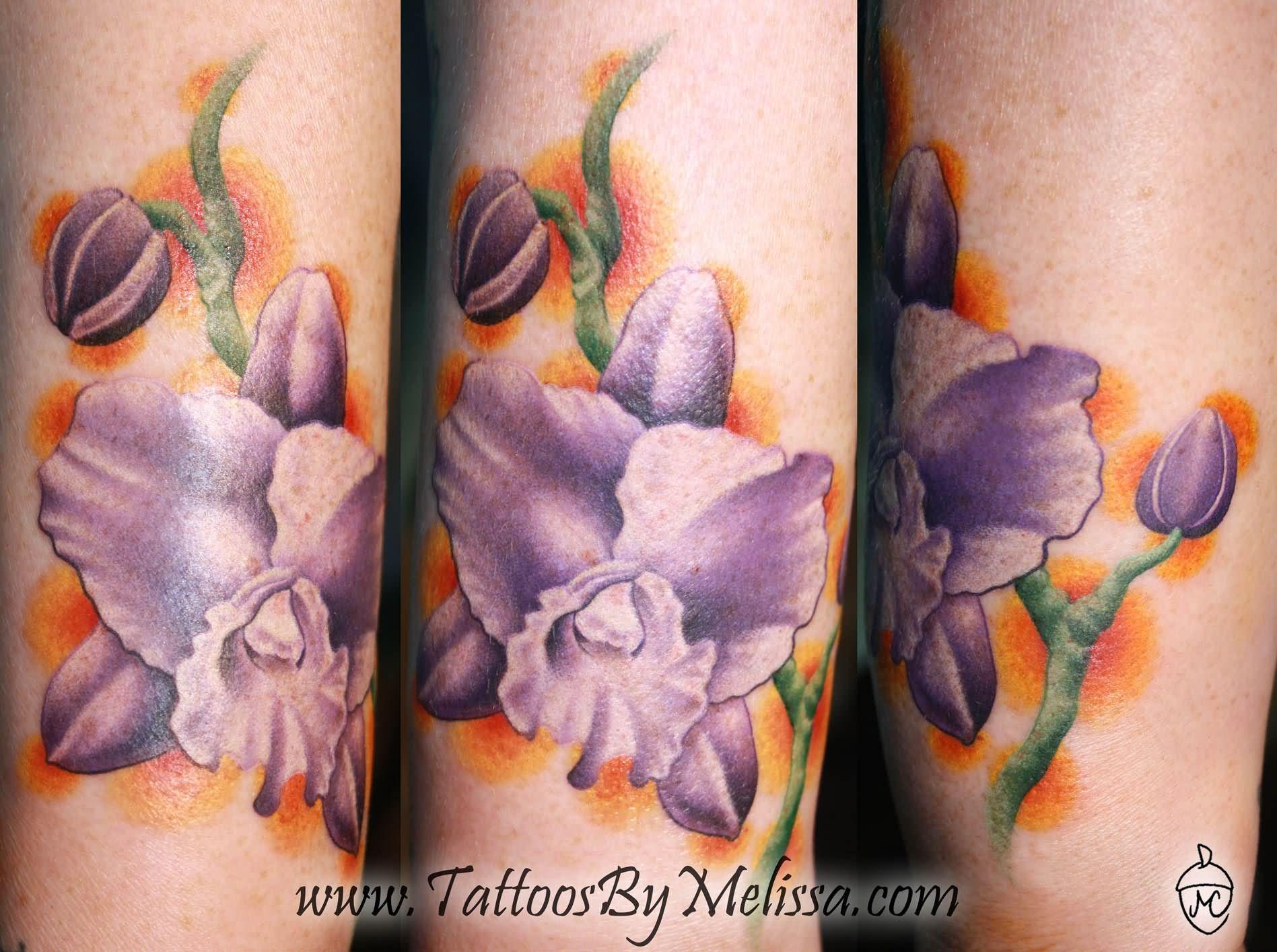 Тату с орхидеями фото