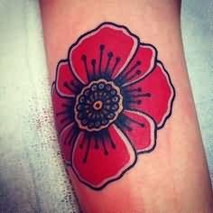 Memorial poppy flower tattoo on back poppy flower tattoo mightylinksfo