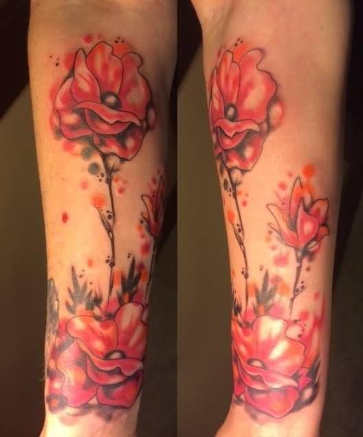Poppy Half Sleeve Tattoo: Poppy Tattoos On Full Sleeve