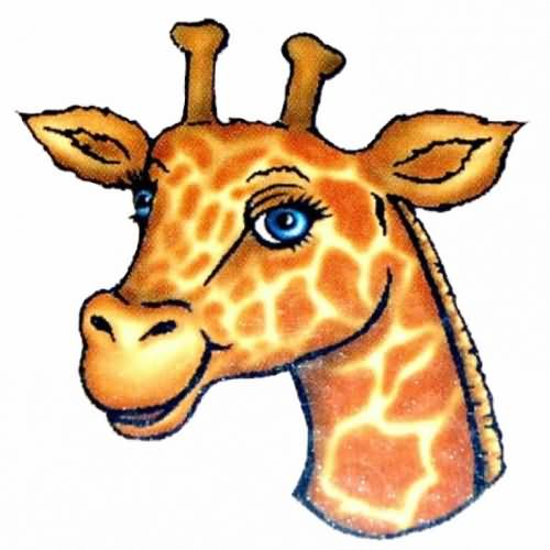 Giraffe Head And Neck Cartoon
