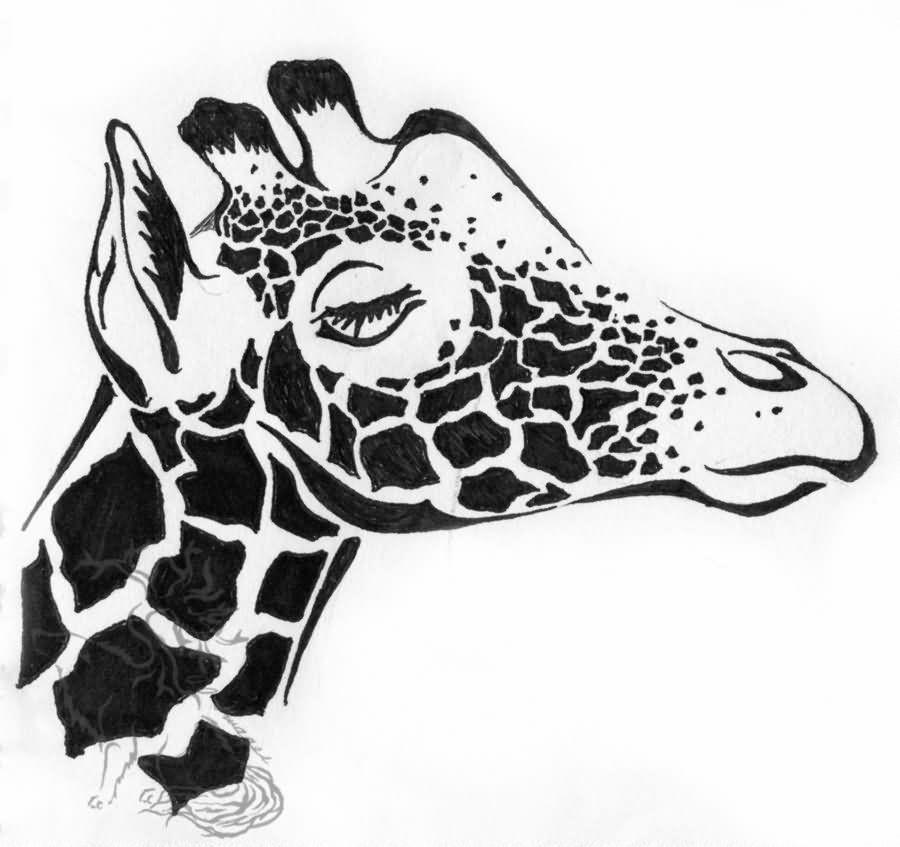 Tribal giraffe tattoo - photo#30
