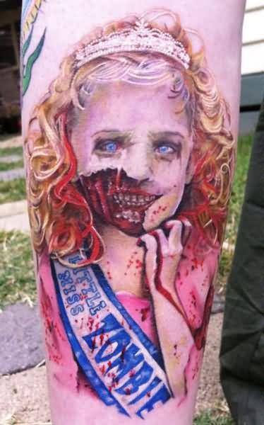 Little Zombie Girl Tattoo