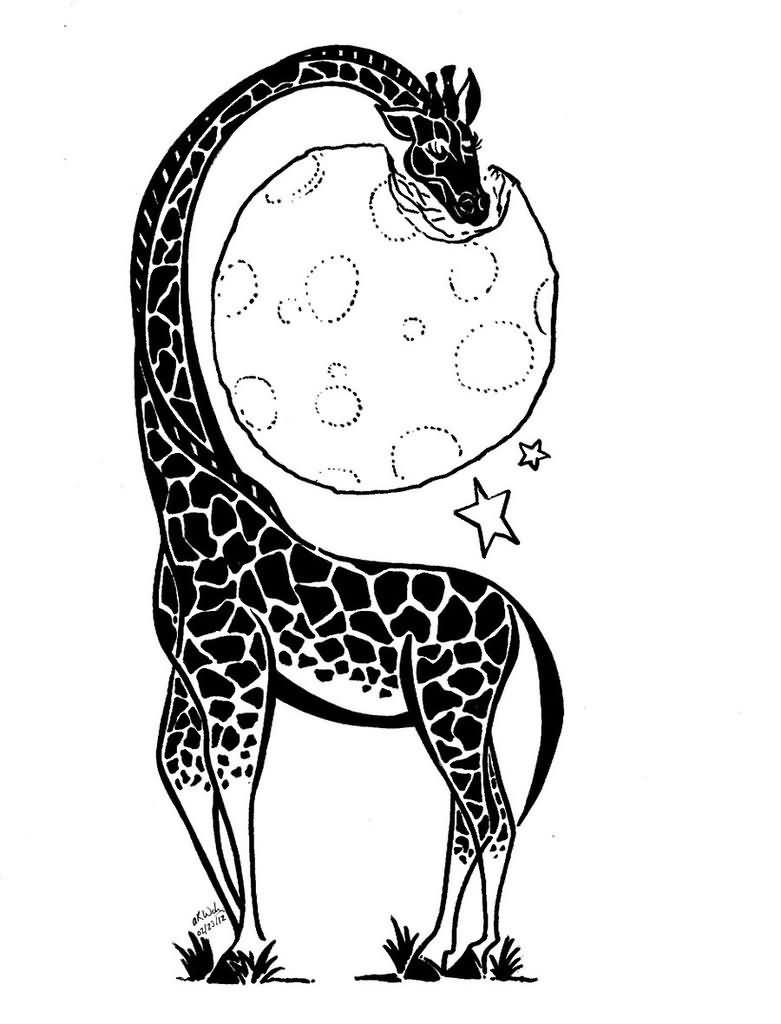 Tribal giraffe tattoo - photo#27