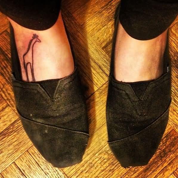 Giraffe foot tattoo - photo#13