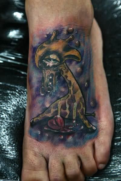 Giraffe foot tattoo - photo#14