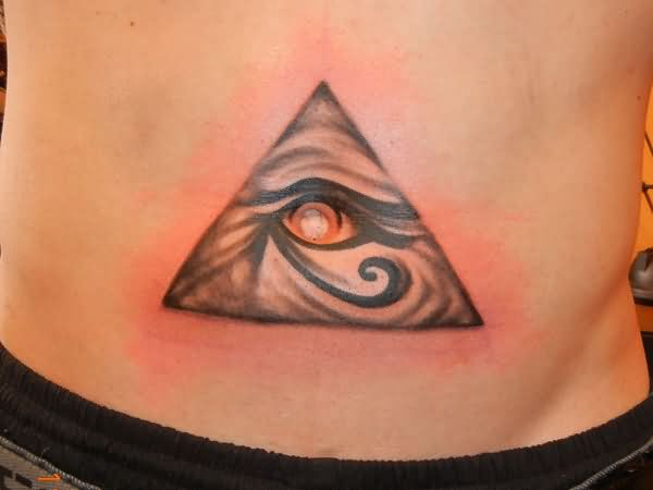 Eye With Triangle Tattoo: Stomach Tattoo Images & Designs