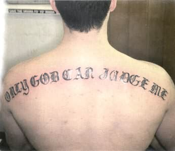 Only God Tattoo On Back