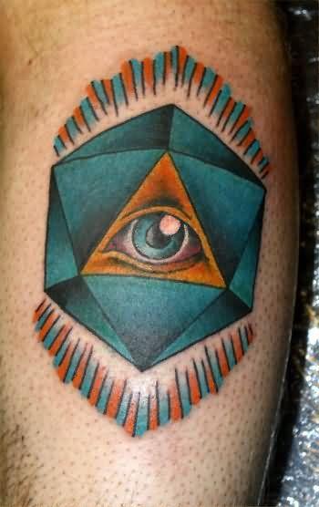 Illuminati Triangle Tattoo Triangle Eye Ta...