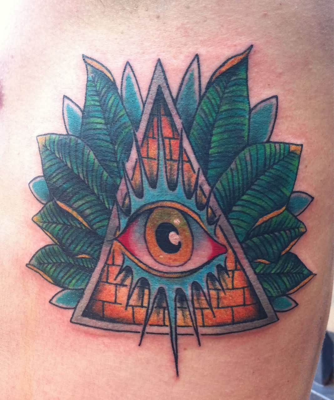 62 Traditional Eye Tattoo Ideas And Designs About Eyes: Triangle Eye Tattoo Images & Designs