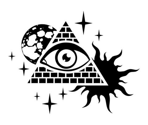 tribal sin and triangle eye tattoo design. Black Bedroom Furniture Sets. Home Design Ideas