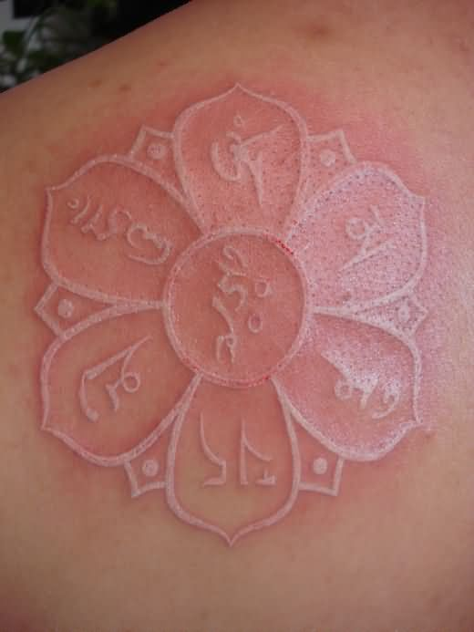 White ink tattoo images designs white ink religious flower tattoo mightylinksfo