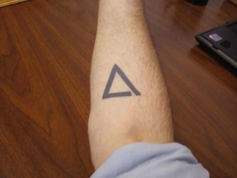 Wonderful Right Forearm Triangle Tattoo