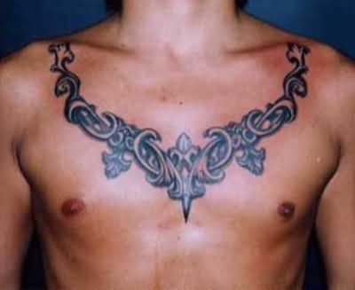 9a43b3f7d Chest And Neck Chain Tattoo