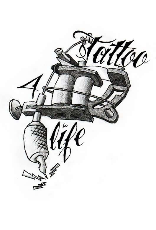 Tattoo Gun Drawing at GetDrawings | Free download  |Tattoo Gun Drawing