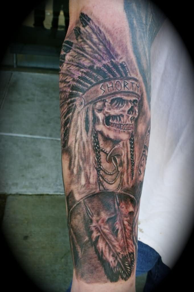 Native american half sleeve tattoo ideas 2