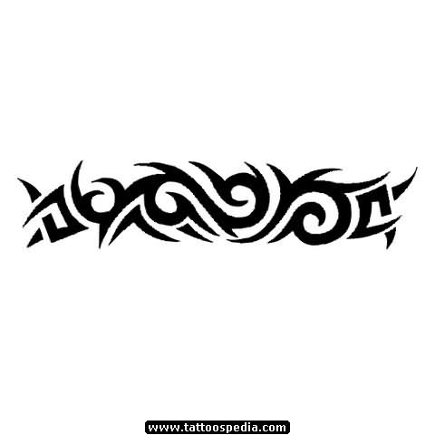 Awesome Black Tribal Band Tattoo Design