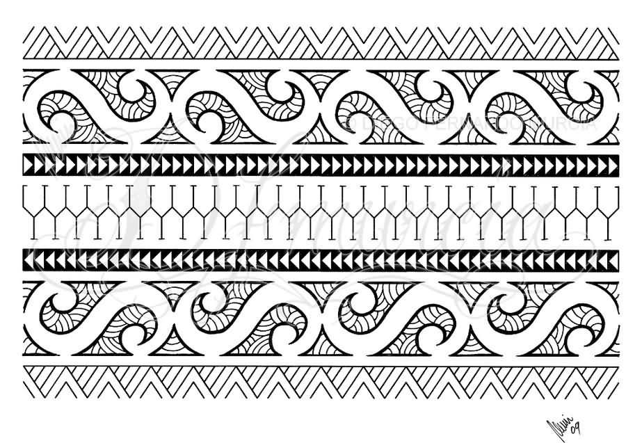 Maori Armband Tattoo Design For Men