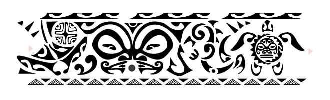 Polynesian Ankle Band Tattoo Design